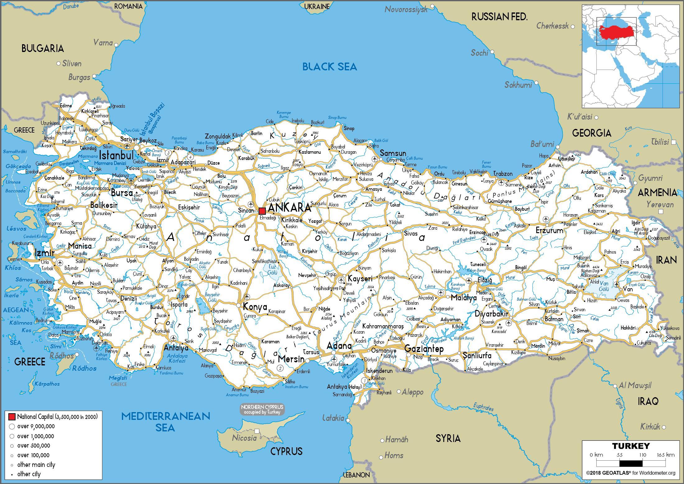 Harta Harta Rutiera Turcia